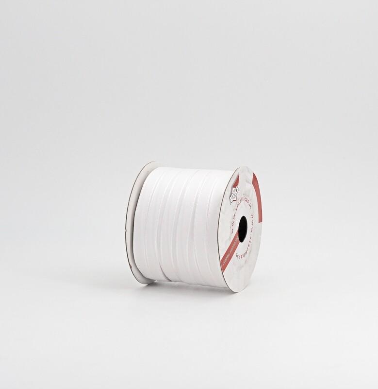Nastro bianco taffetà mm.9 Mt. 50