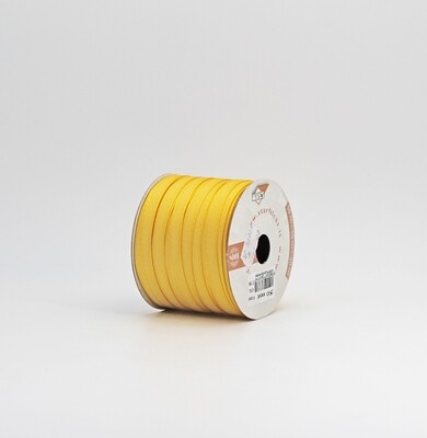 Nastro giallo ocra taffetà mm.9 Mt. 50
