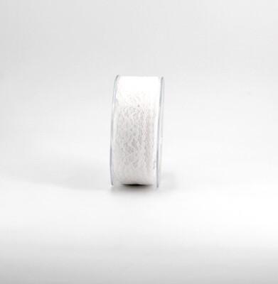 Nastro pizzo nylon bianco colore 1 mm. 32 Mt. 25