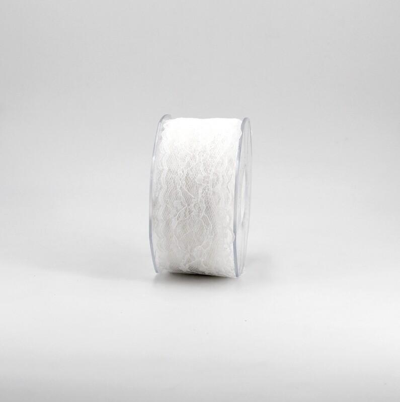 Nastro pizzo nylon bianco colore 1 mm. 34 Mt. 25
