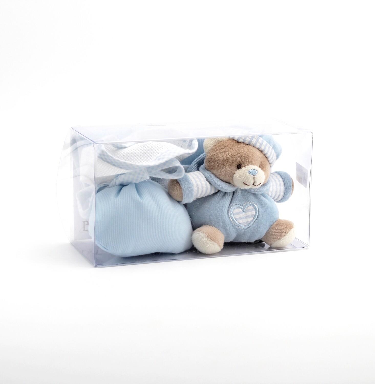 Confezione regalo orsetto celeste  Pz. 1