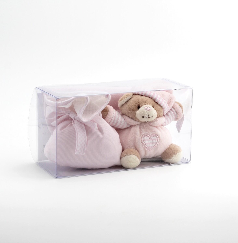 Confezione regalo orsetto rosa  Pz. 1
