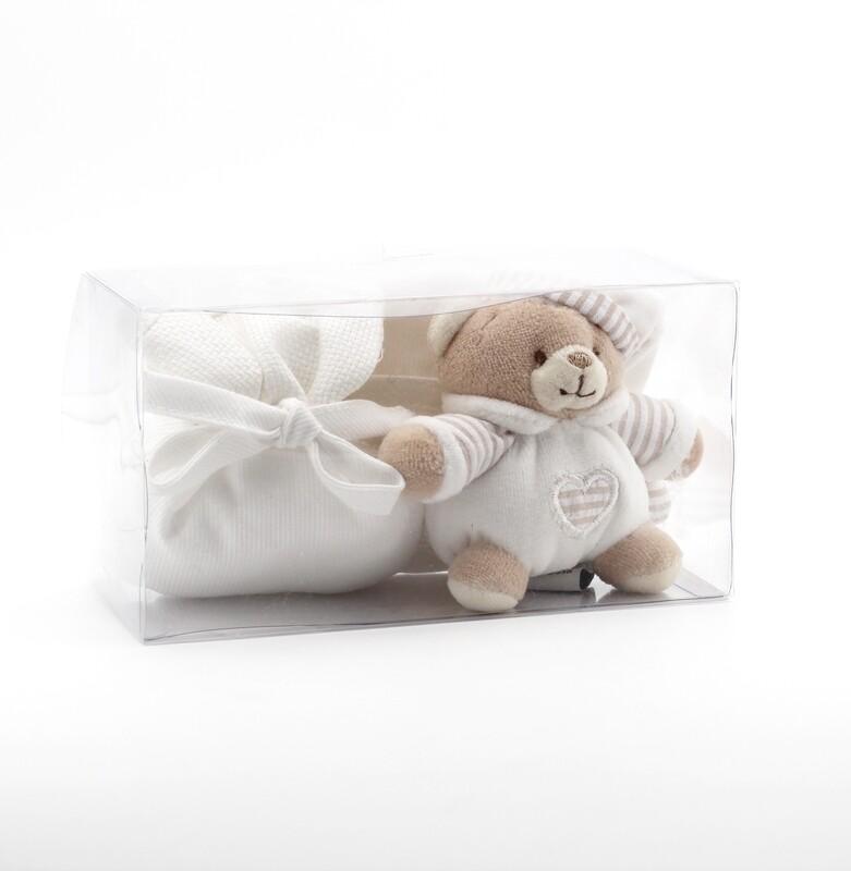 Confezione regalo orsetto avorio Pz. 1