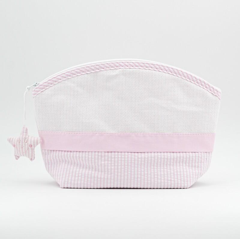 Pochette rosa per neonati con cerniera Pz. 1
