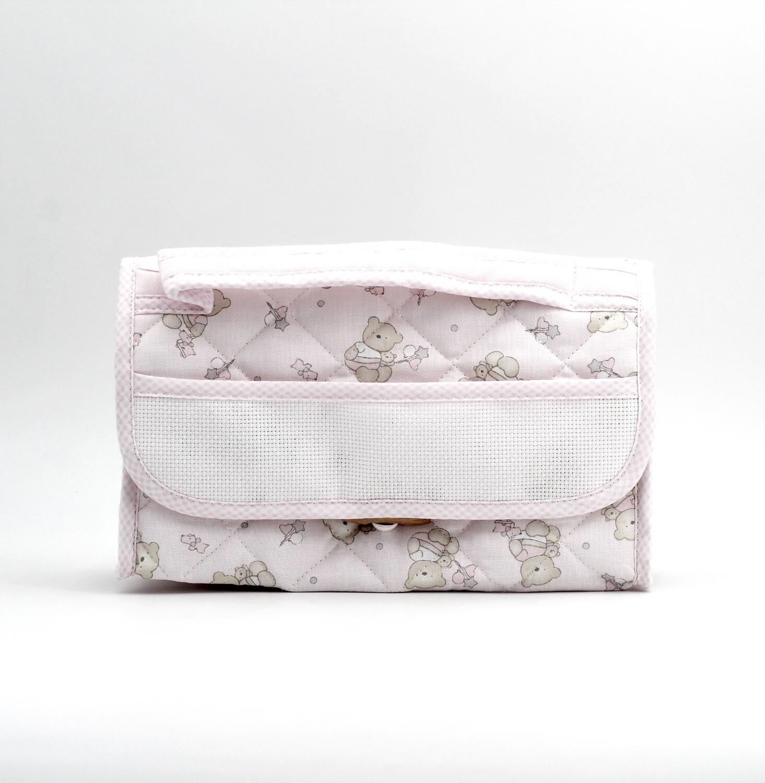 Beauty per neonato rosa fantasia orsetti Pz.1