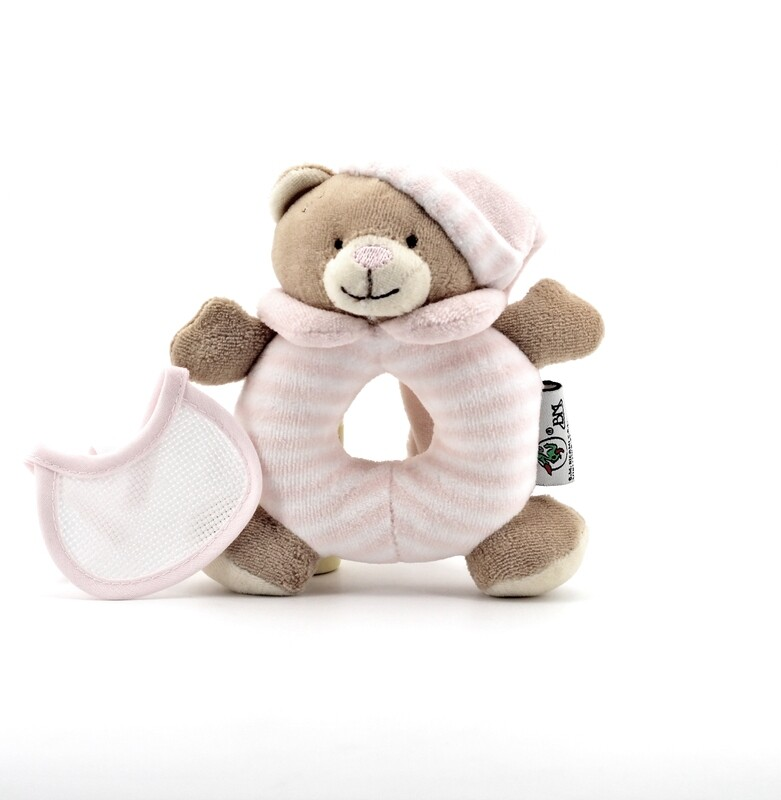 Sonaglio orsetto rosa ad anello Pz. 1