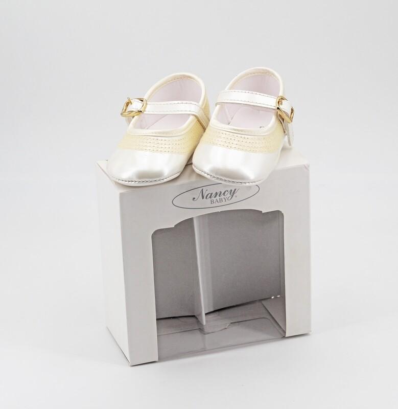Scarpine neonato perlate con paillettes misura 17 Pz. 1