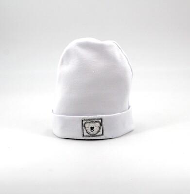 Cappellino in puro cotone bianco Pz. 1