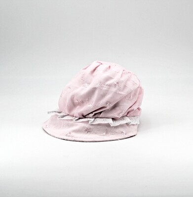 Cappellino in puro cotone rosa con ricami Pz. 1