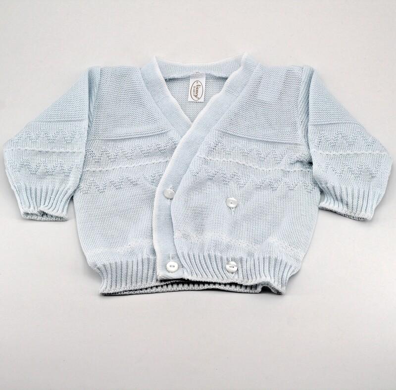 Scaldacuore neonato in puro cotone celeste Pz. 1