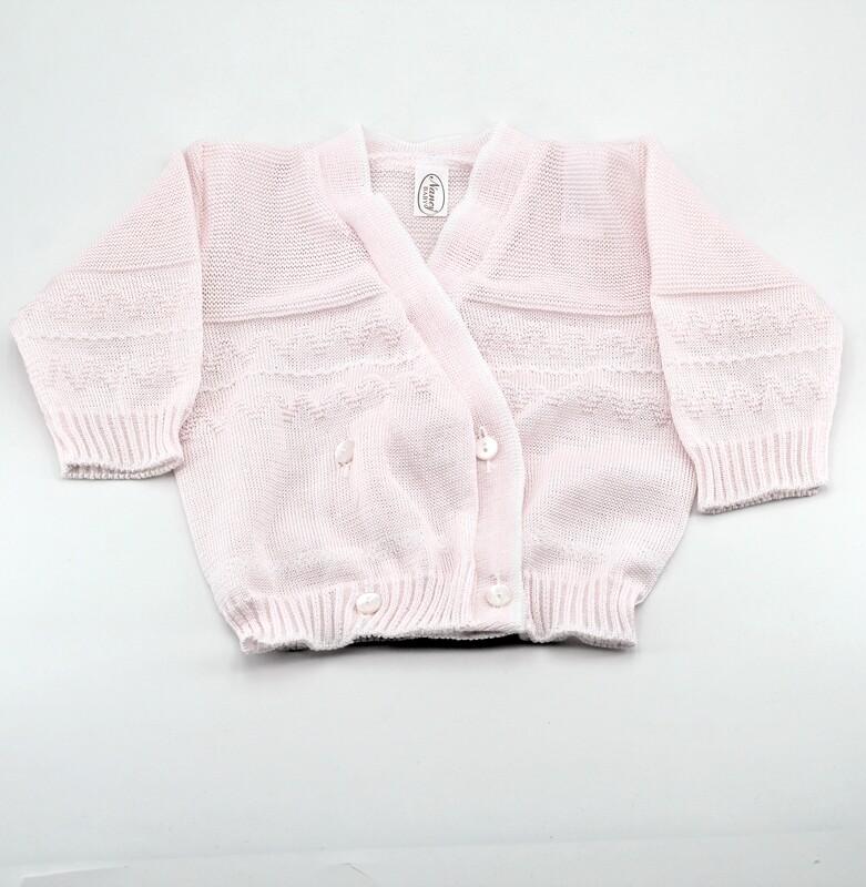 Scaldacuore neonato in puro cotone rosa Pz. 1