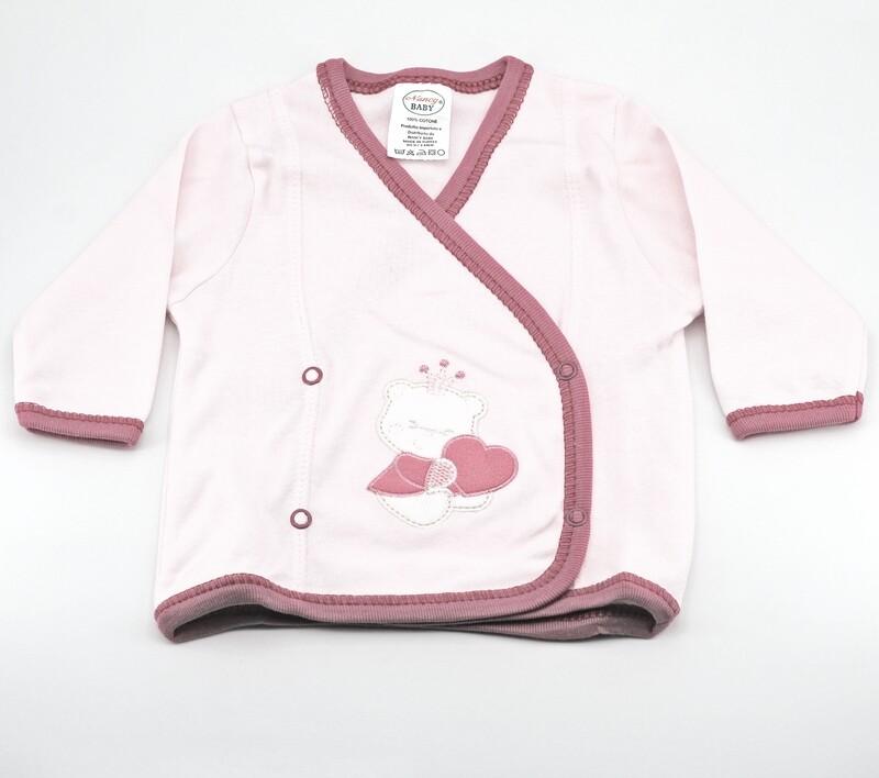 Scaldacuore neonato in cotone rosa con orsetti Pz. 1