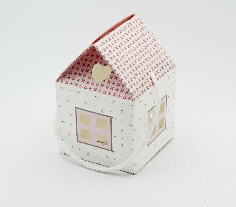 Scatolo casetta bloom rosa Pz. 10
