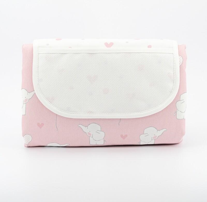 Fasciatoio pieghevole rosa fantasia elefanti  Pz. 1