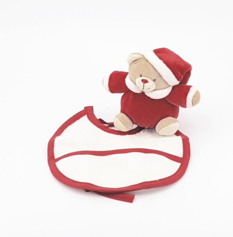 Confezione regalo natalizia peluche  più bavetta Pz. 1