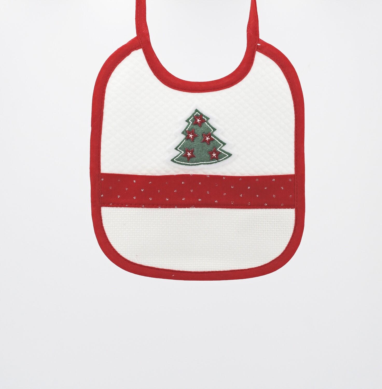 Bavaglino natalizio con albero di natale Pz.3