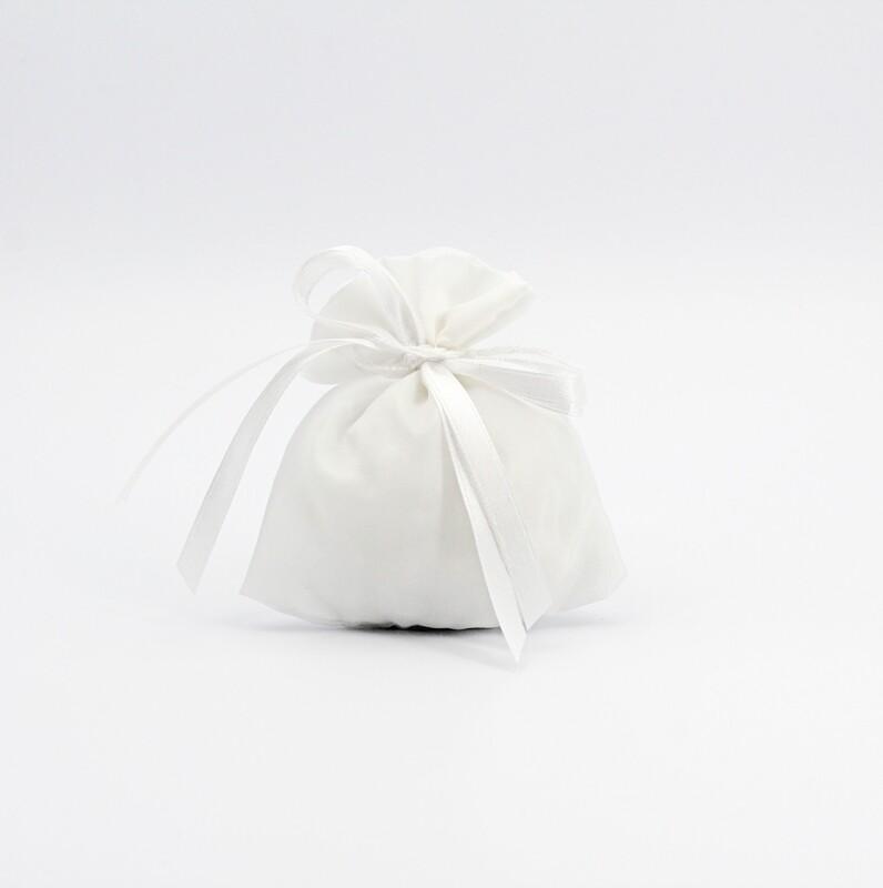 Sacchetto piccolo bianco con tirante Pz. 20