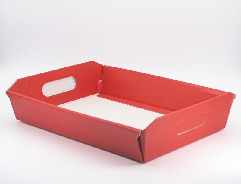 Scatolo cesto seta rosso medio Pz. 2