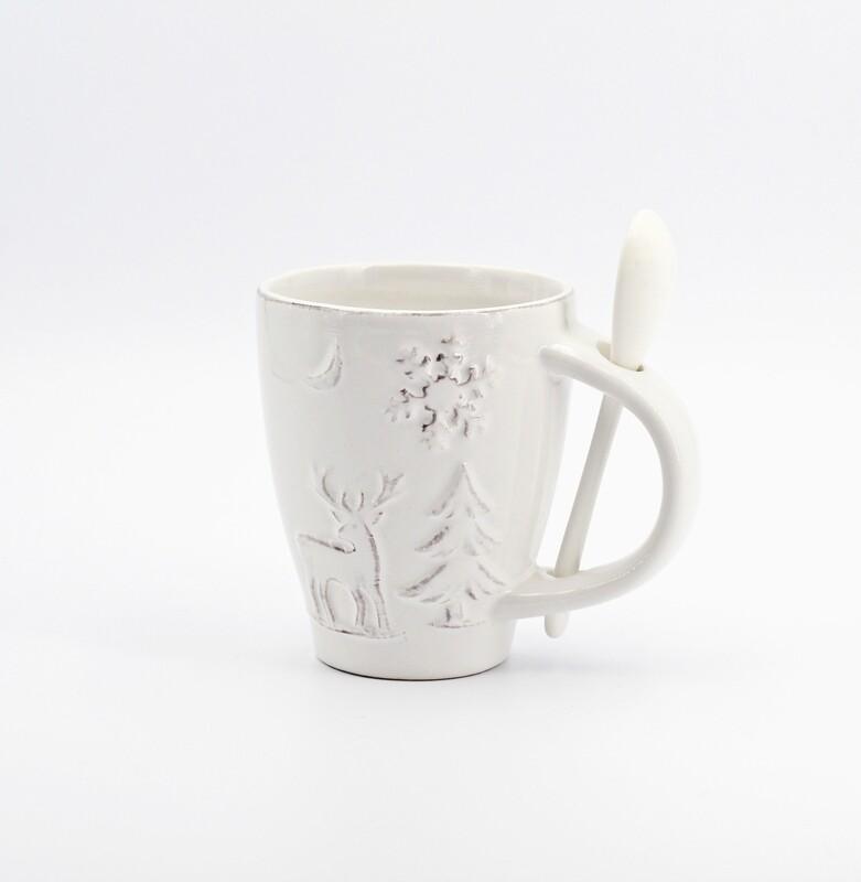 Bomboniera in ceramica tazza tema natale Pz. 1