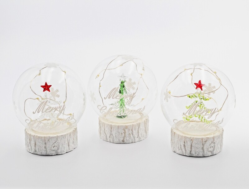 Bomboniera in vetro campana merry christmas tre soggetti Pz. 3