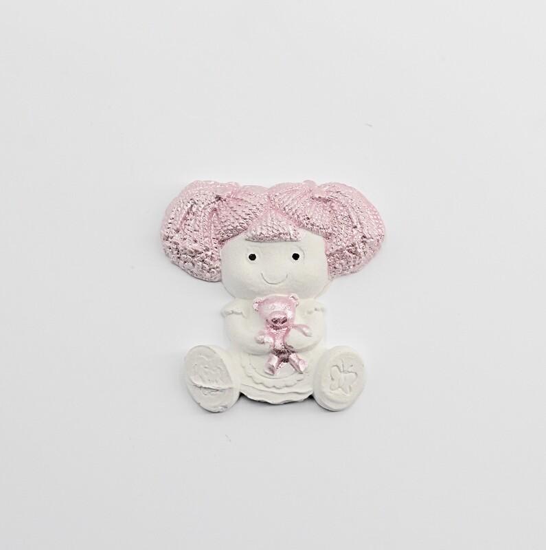 Gessetto bambolina rosa Pz.10