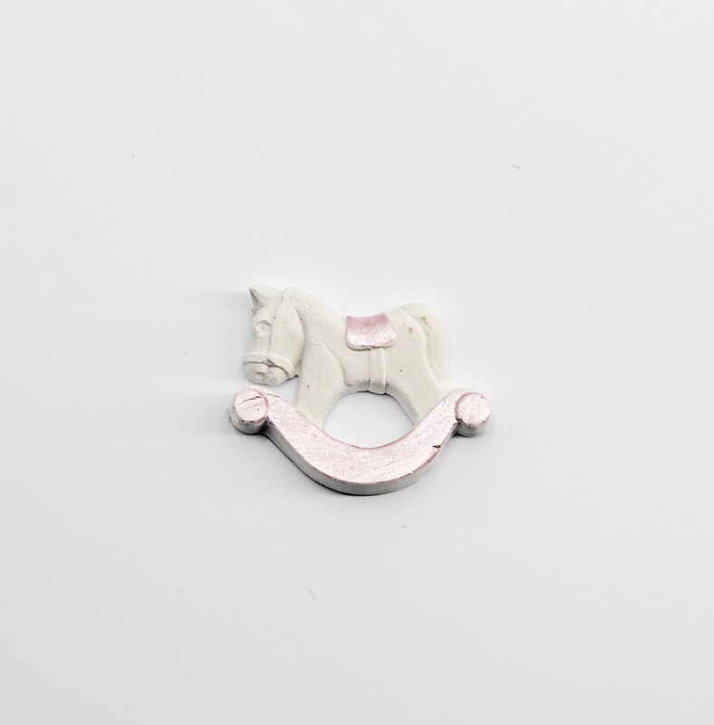 Gessetto cavallo a dondolo rosa Pz.10