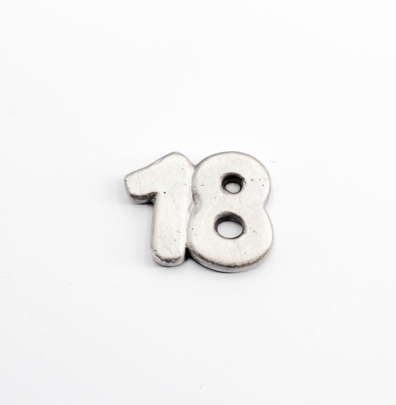 Gessetto numero 18 colore argento Pz.10