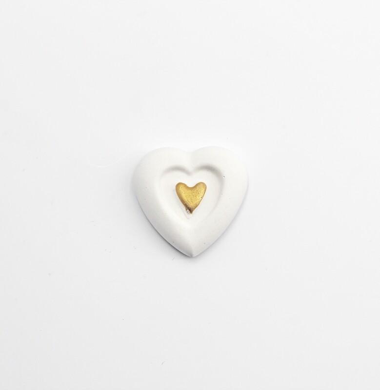 Gessetto doppio cuore oro Pz. 10