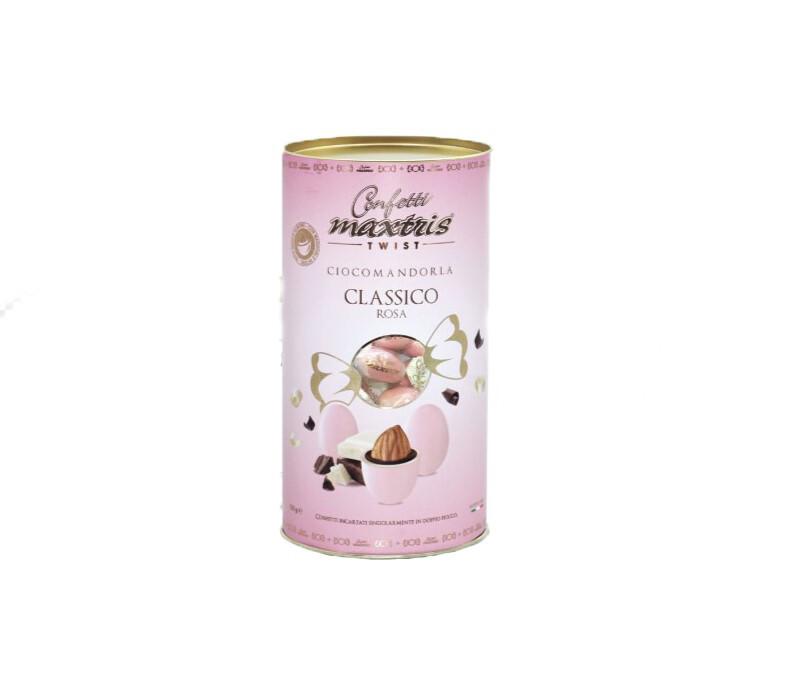 Maxtris cilindro twist ciocomandorla classico rosa Pz.1