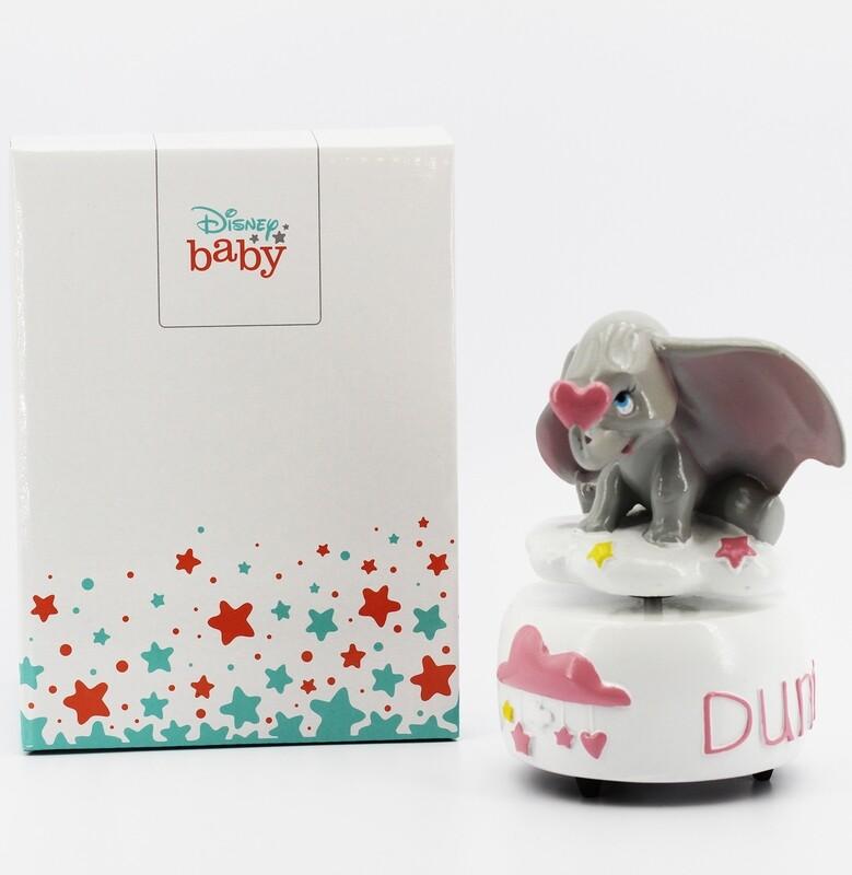 Carillon Dumbo rosa con scatola Pz.1