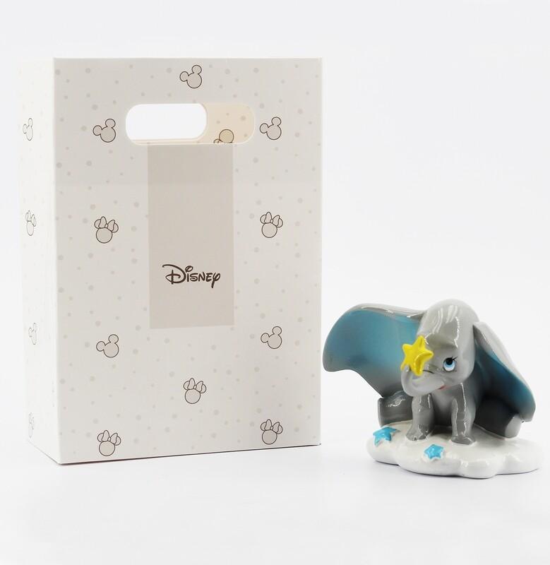 Dumbo bomboniera celeste con shopper Pz.1
