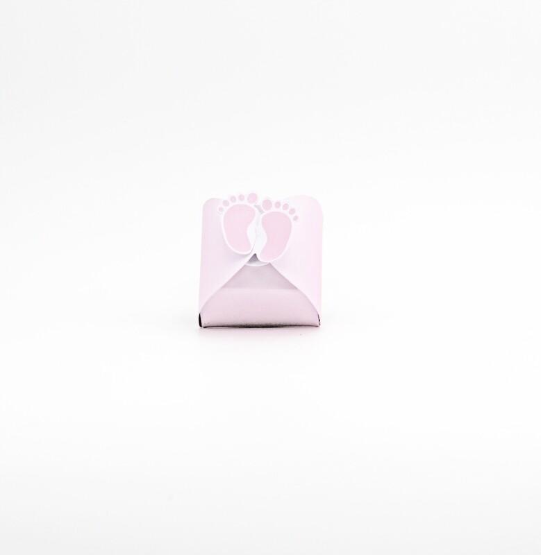 Scatola piedini rosa Pz.10
