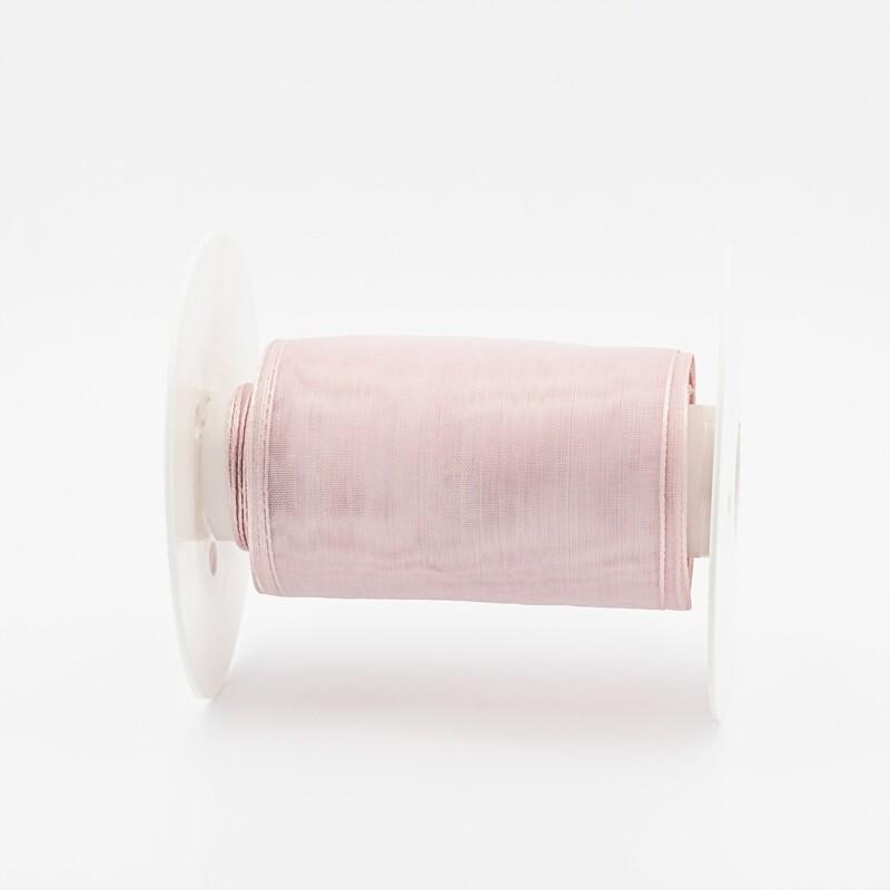 Nastro velo organza rosa mm.95 Mt.13