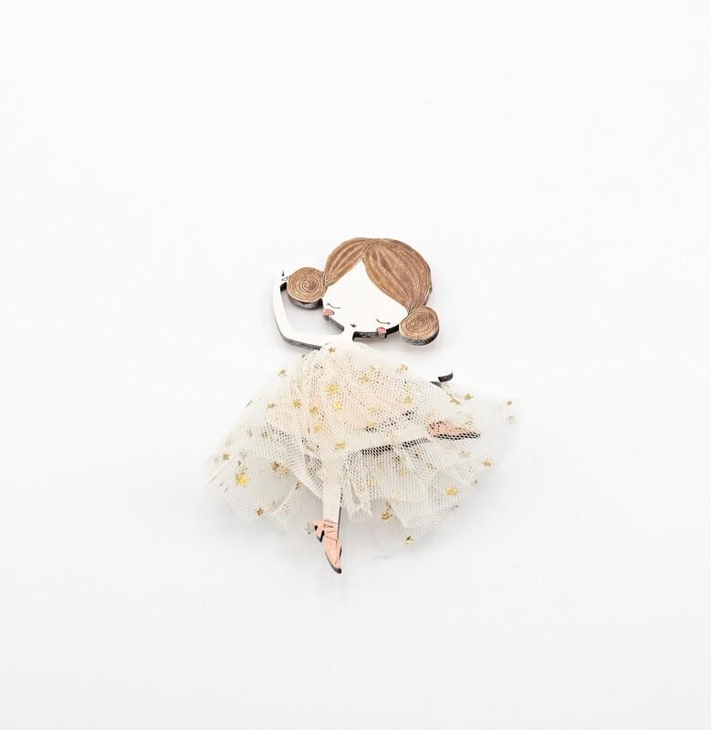 Applicazione ballerina tulle Pz. 1
