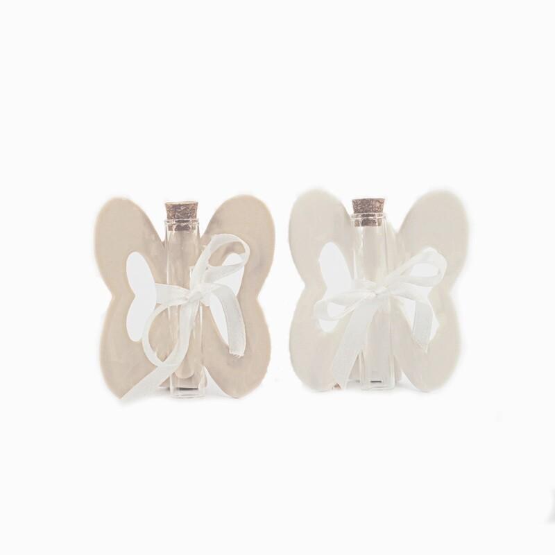 Bomboniera farfalla piccola due colori assortiti Pz. 2