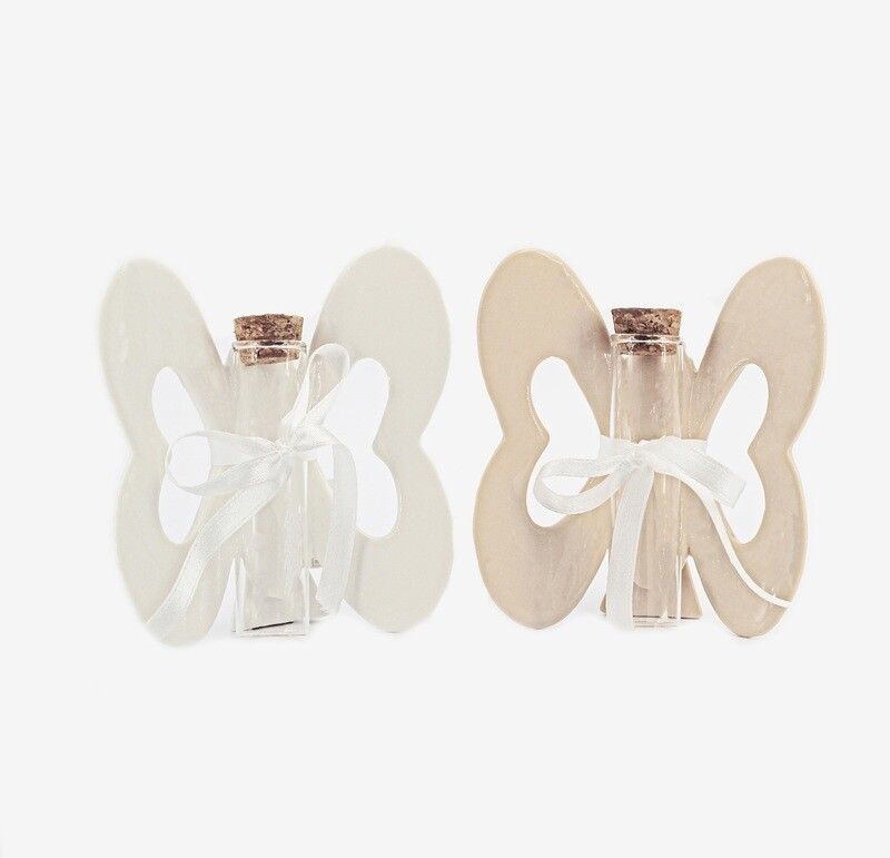 Bomboniera farfalla media due colori assortiti Pz. 2
