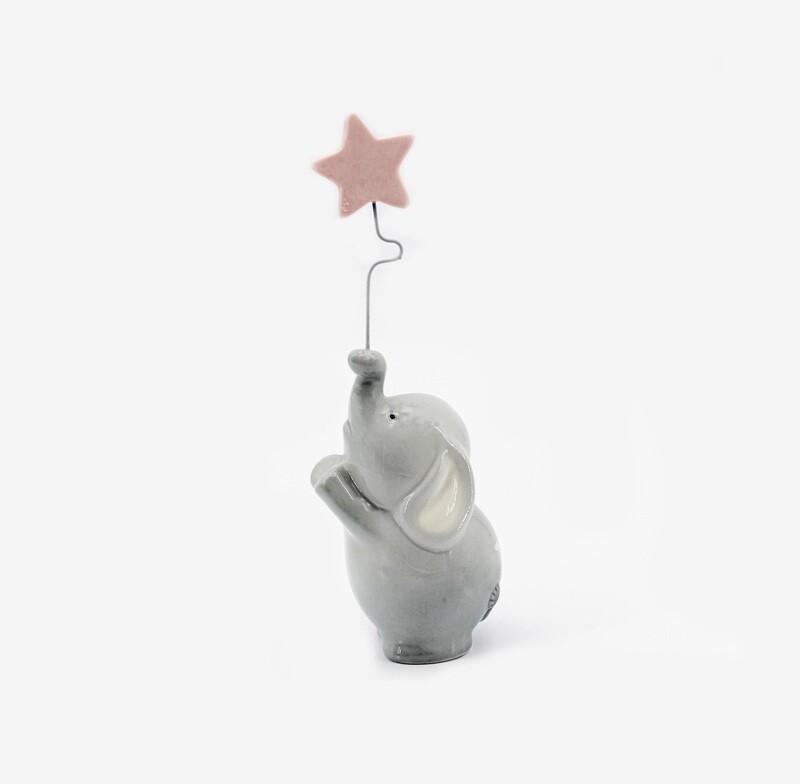Bomboniera elefante con stella rosa Pz. 1