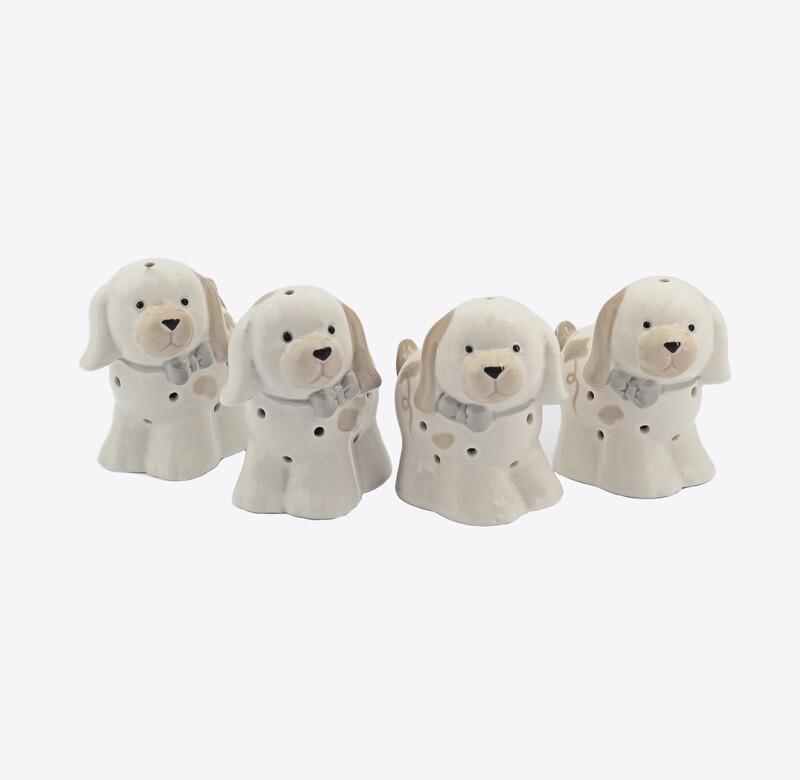 Bomboniera cagnolini con led due soggetti assortiti Pz. 4