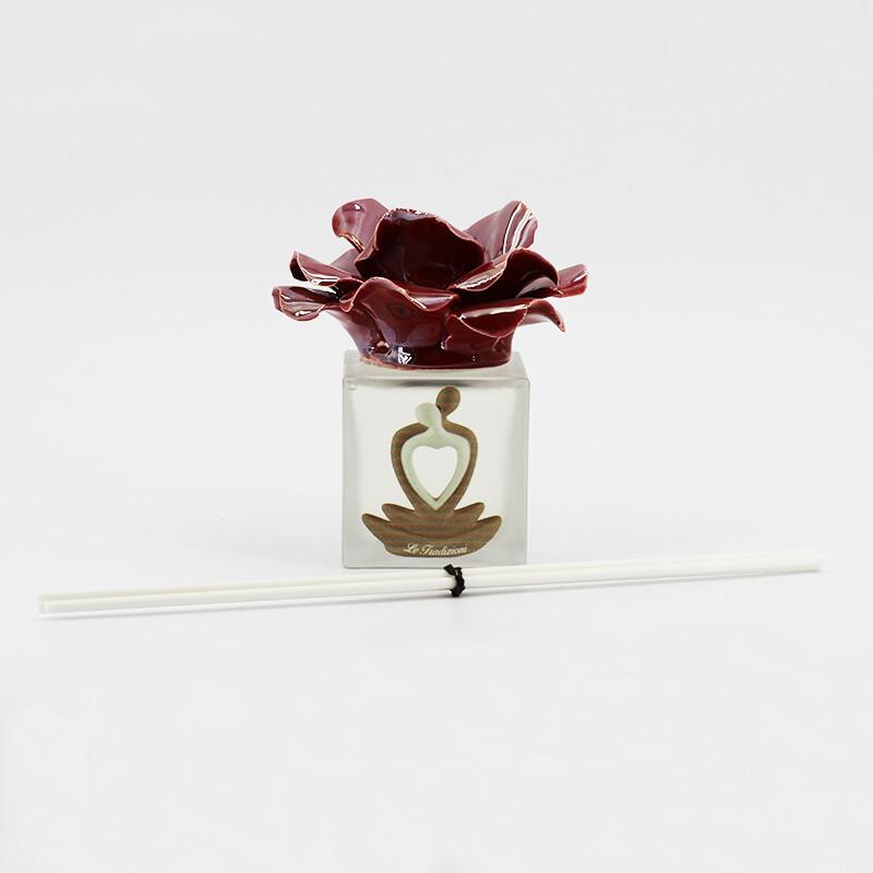 Bomboniera *prodotto artigianale*  profumatore rosa   Pz. 1
