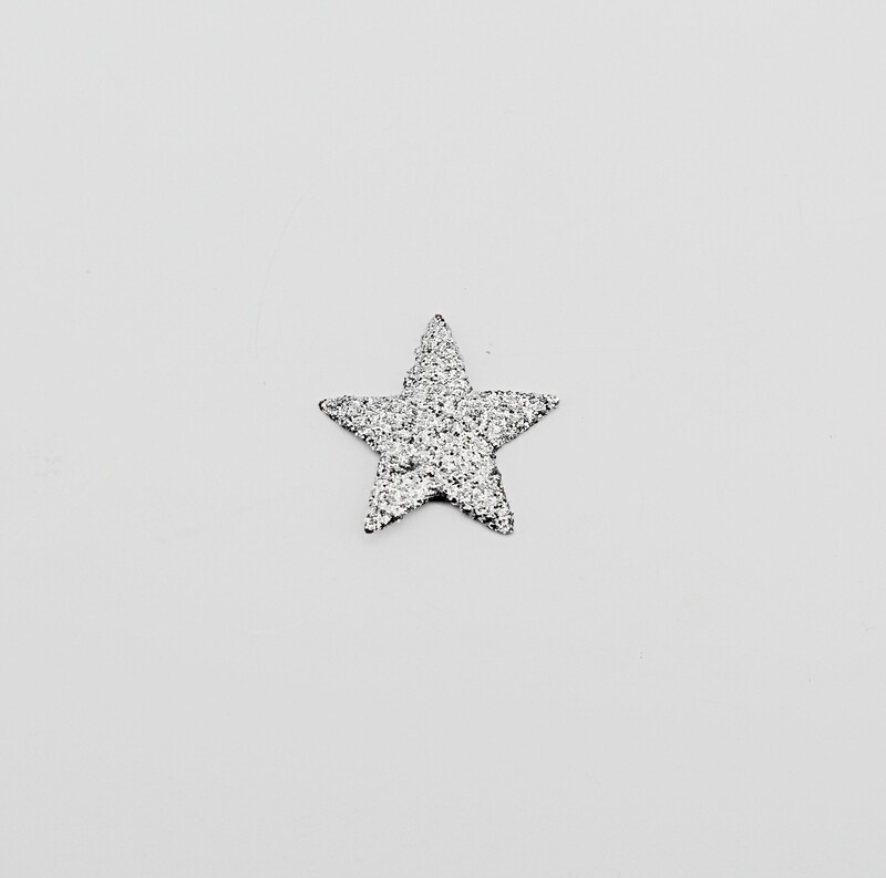 Applicazione set 120 stelle glitter argento Pz.1