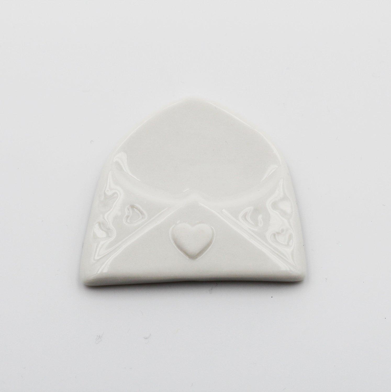 Magnete busta lettera in porcellana confezione da 12 pezzi