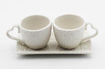 Bomboniera Ilary Queen tazzine con vassoio in porcellana con scatolo Pz.1