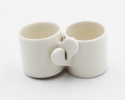 Bomboniera set tazzine cuore in ceramica Pz.4