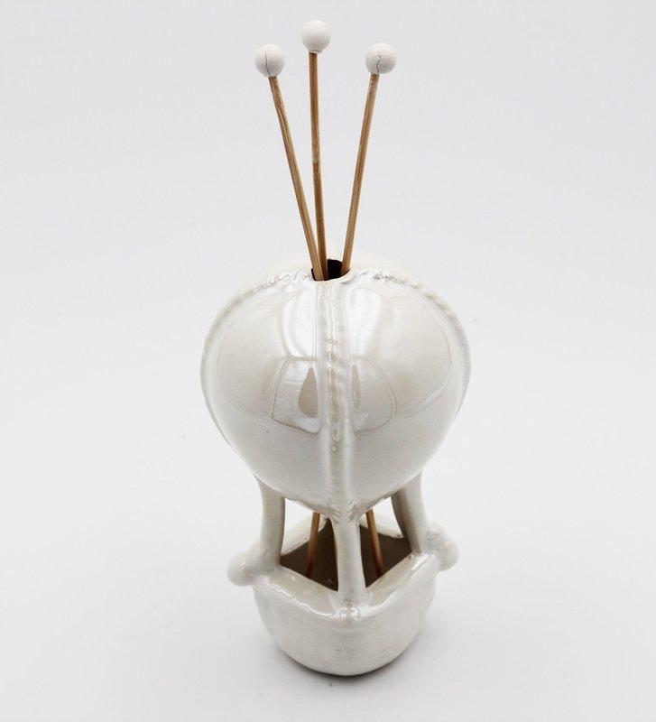 Bomboniera in ceramica profumatore mongolfiera Pz.1