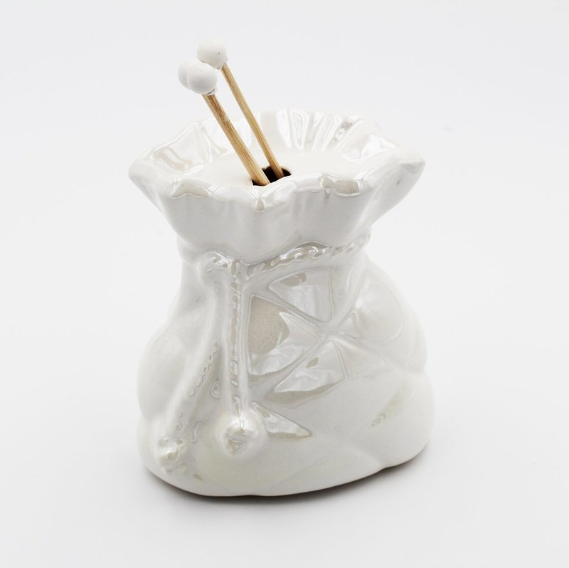 Bomboniera in ceramica profumatore sacco Pz.1