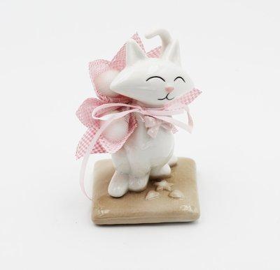 Bomboniera Ilary Queen gattino su cuscino Pz.1