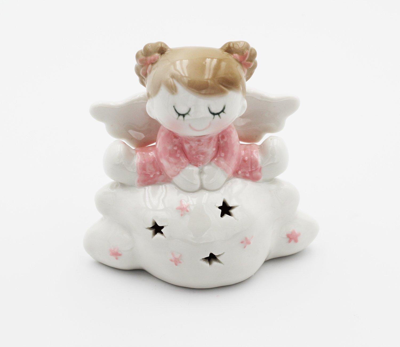 Bomboniera Ilary Queen angelo seduto su nuvola con led Pz.1