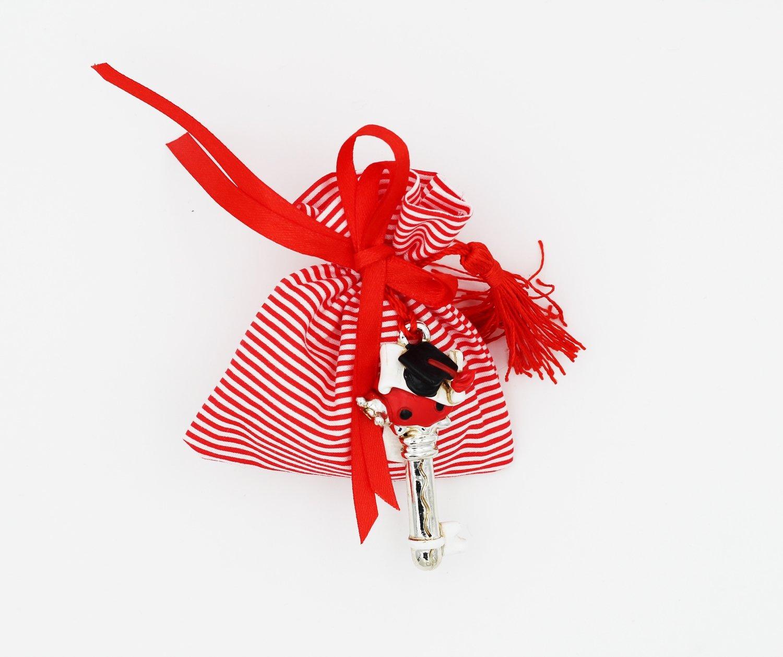 Sacchetto piccolo righe rosse Pz.24