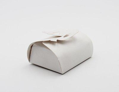 Scatolo fiocco lino bianco confezioni da pz. 25