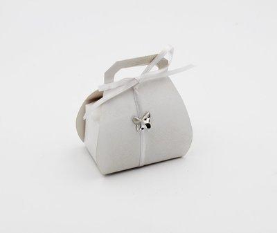 Scatolo borsa lino bianco confezioni da pz. 25